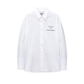화이트 이그나시 와펜 솔리드 셔츠 JNSH0B604WT