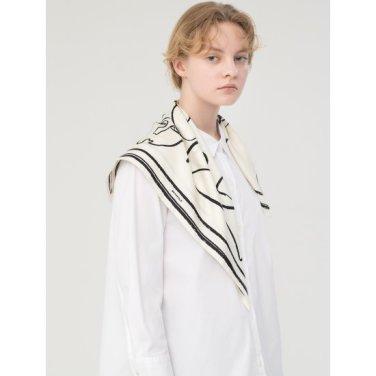 화이트 스트레치 솔리드 스몰 칼라 셔츠 (BF9264C041)