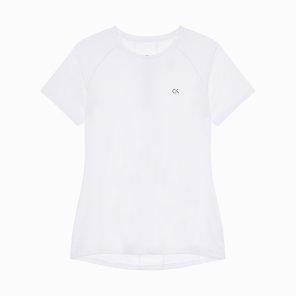 여성 씨케이피 센터 백 패널 반팔 티셔츠 4WF8K140-100