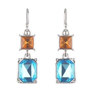 square drip earrings