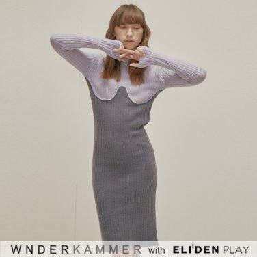 [분더캄머:WNDERKAMMER] Coloration Sweater Dress_Lavender  (WK9F0-CROP060)