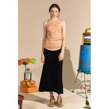 [테이즈] Giselle Jersey Long Skirt_Black