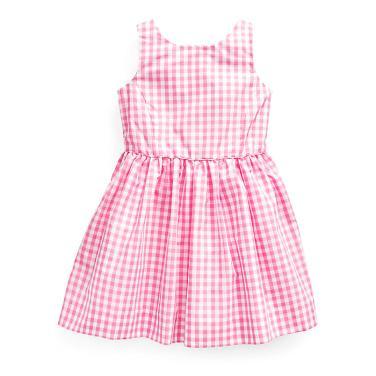 폴로 랄프 로렌 칠드런 체커 핏앤플레어 드레스(CWPODRSR3M10234D54)