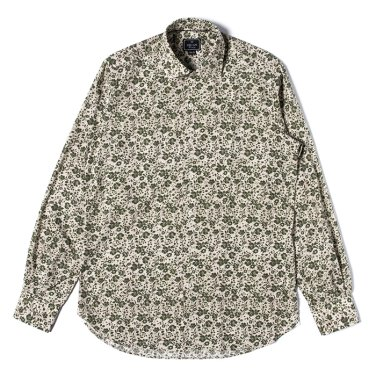 [ORIAN]PRINT SHIRT (FLOWER 1) OLIVE/OR81M40003A94