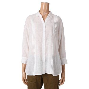 [여성]핀턱 포인트 루즈핏 셔츠 블라우스(T192MBL161W)