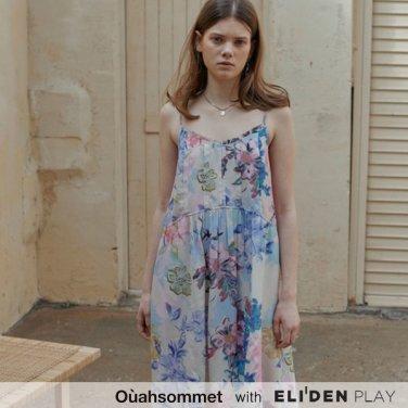 [우아솜메] Ouahsommet BACKLESS FLORAL DRESS_ML (OBFOP002A)