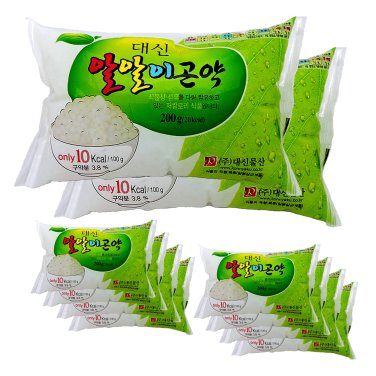 [곤약함량98.7프로 곤약쌀, 10kcal] 대신곤약 알알이곤약 (200g*10팩) / 무료배송