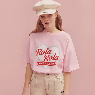 (TS-19305) ROLA HEART T-SHIRT PINK