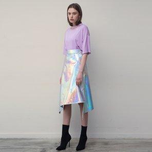 Asymmetric Skirt (Silver)