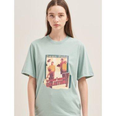 [30주년 Limited] 그린 포토 콜라주 프린트 티셔츠 (BF9742N01M)
