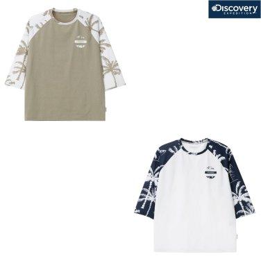 공용 래글런 패턴형 7부 티셔츠 DXRTA9831