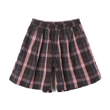 KAPTAIN SUNSHINE Athletic Wide Shorts Charcoal Plaid