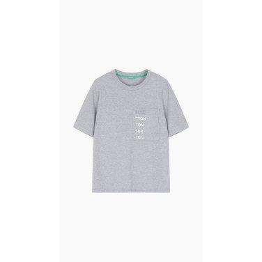 레터링 포켓 티셔츠(3BL0E15F2)