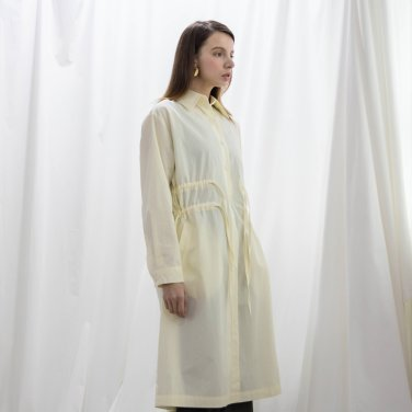 Collar Shirring Long Shirts One piece Cream(2018FWOP320_002)