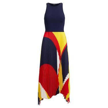폴로 랄프 로렌 플리츠 조젯 드레스(WMPODRSNCM10034B90)