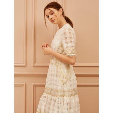 [까이에] Embellished Sequined Dress