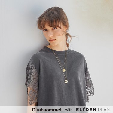 [우아솜메] Ouahsommet Lace Wing T-Shirt_CH (OBFTS012A)