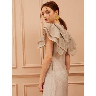 [까이에] A-Line Ruffled Maxi Dress