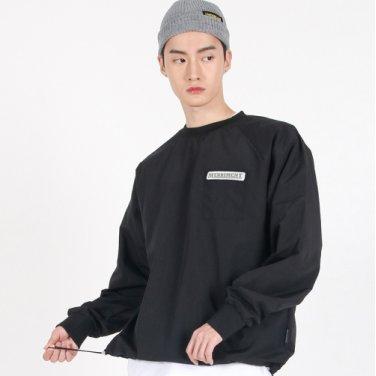 (UNISEX)Wearable Stopper Raglan Logo T(BLACK)