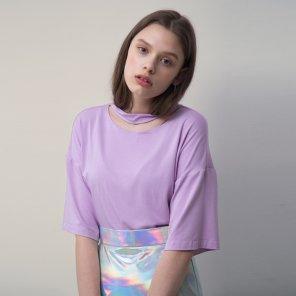Cotton Jersey Short Sleeve Top