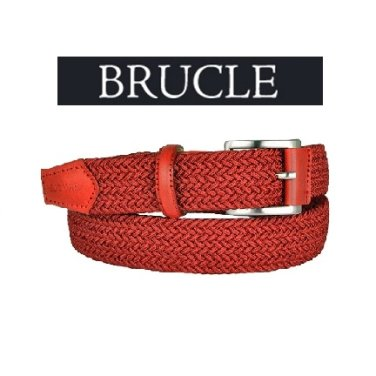 BRUCLE부르클레-이탈리아 남성컬러꼬임벨트(BT-CEL03RRS)