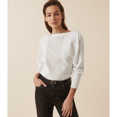 [리스여성] 시스루 포인트 니트 티셔츠[672-91-18-013]