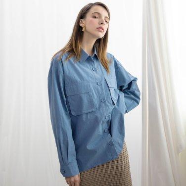 Pocket Washing Shirts Blue(2018FWST320_001)