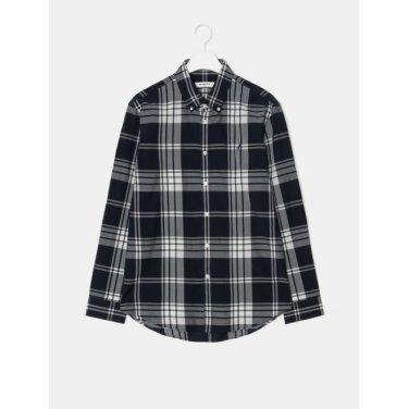 19SS [SLIM] 네이비 콜라보 빅헤릿 체크 셔츠(BC9264A40R-)