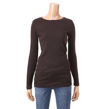 [여성]소매 자수 포인트 기본 핏 티셔츠(T186MTS133W)