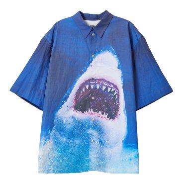 SHARK PRINTED SHIRT (BLUE)