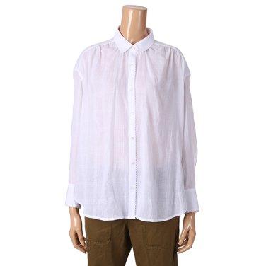 [여성]루즈핏의 화이트 셔츠 블라우스(T192MBL151W)