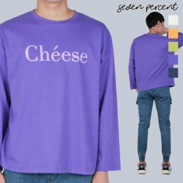 [세븐퍼센트] (AD)남여공용 오버핏 치즈 긴팔티