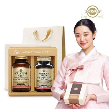 (부모님건강세트) 칼슘 600 위드 비타민D3 (120정) + 오메가3 700 (60캡슐)