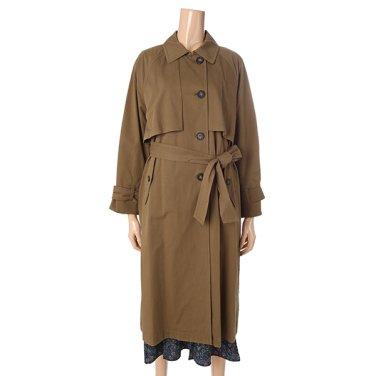 [여성]컨셉츄얼 자수의 오버핏 트렌치 코트(T196MCT133W)