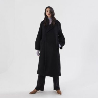 Belted Ballon Coat - Black