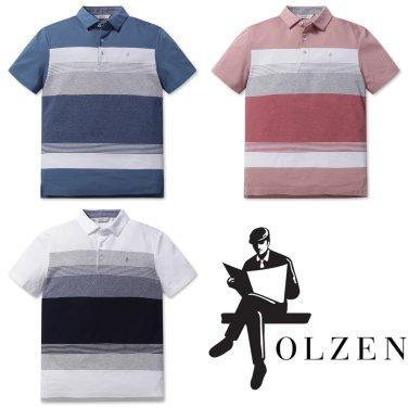 [올젠]리플 컬러블럭 티셔츠(ZOZ2TT1303 3종 택1)as