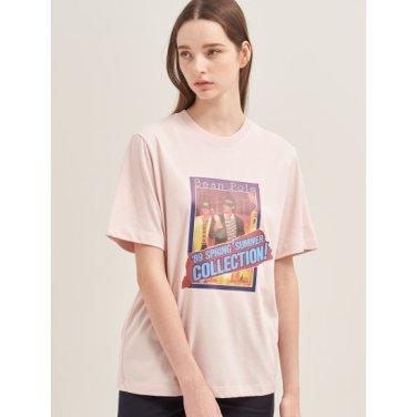 [30주년 Limited] 라이트 핑크 포토 콜라주 프린트 티셔츠 (BF9742N01Y)