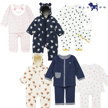 [블루독베이비] 겨울상품 최대 35% SEASON OFF♥ 우주복/맨투맨/점퍼/내의 外