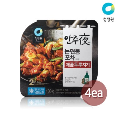 청정원 안주야(夜) 논현동 포차스타일 매콤두루치기 180g x 4팩
