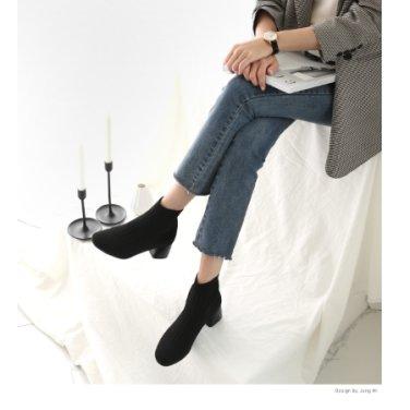 [분홍코끼리] 루시 스판 삭스부츠(5cm)(PE16E)
