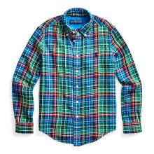 폴로 키즈 남아 8-18세 플래드 코튼 트윌 셔츠(CWPOWOVY6820008300)