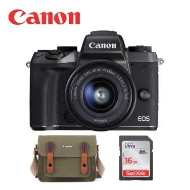 EOS M5 15-45mm 렌즈 KIT 블랙 + SD16G 메모리 + 정품가방