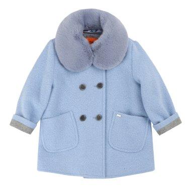 티파니 블루 모직 코트 T95KBC010