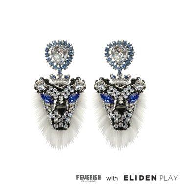 [피버리쉬] FURRY LION EARRINGS-SILVER (LION3E10)