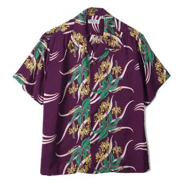 SUN SURF Rayon Hawaiian Shirt Hawaiian Hula Wine