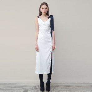 Fitted Slip Dress (White)