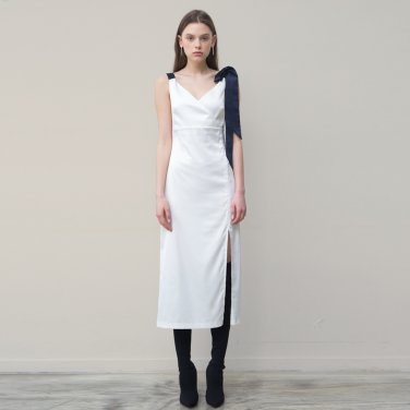 Fitted Slip Dress (White)