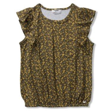 여아 카키 나뭇잎프린트 티셔츠(R1961T192_O)