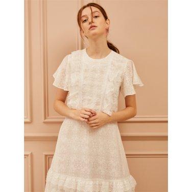 [까이에] Laced A-Line Dress
