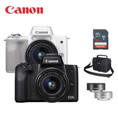 EOS M50 15-45,22mm 더블 렌즈 KIT + SD16G 메모리 + 정품가방 증정